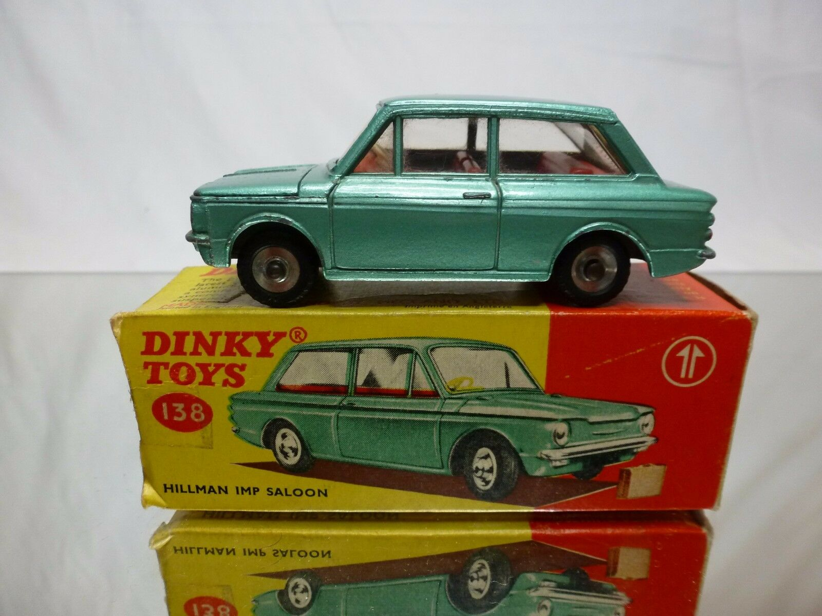 DINKY TOYS  138 HILLMAN IMP SALOON - GREEN 1 43 - GOOD CONDITION IN BOX