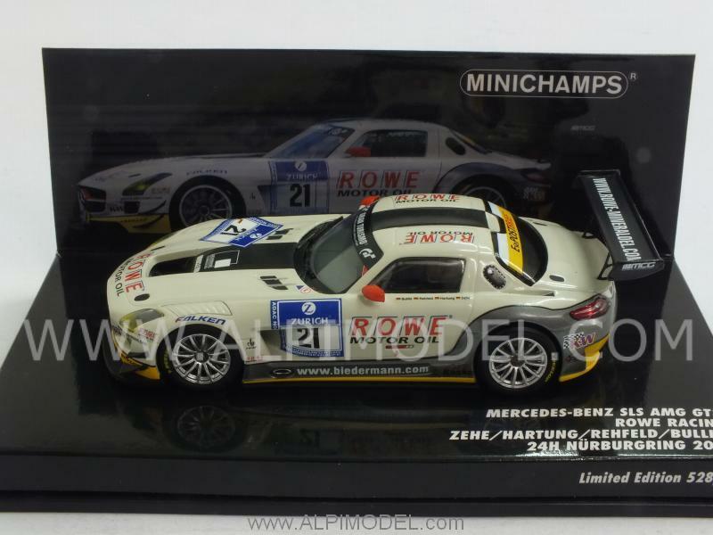 Mercedes SLS AMG GT3 Nurburgring 2012 Zehe - Hartu 1 43 MINICHAMPS 437123221