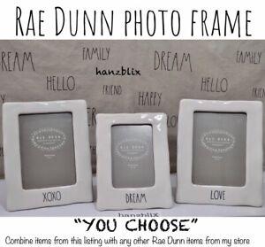 Rae-Dunn-Photo-Frame-Ceramic-LOVE-DREAM-XOXO-BLESSED-034-YOU-CHOOSE-034-NEW-039-18-20