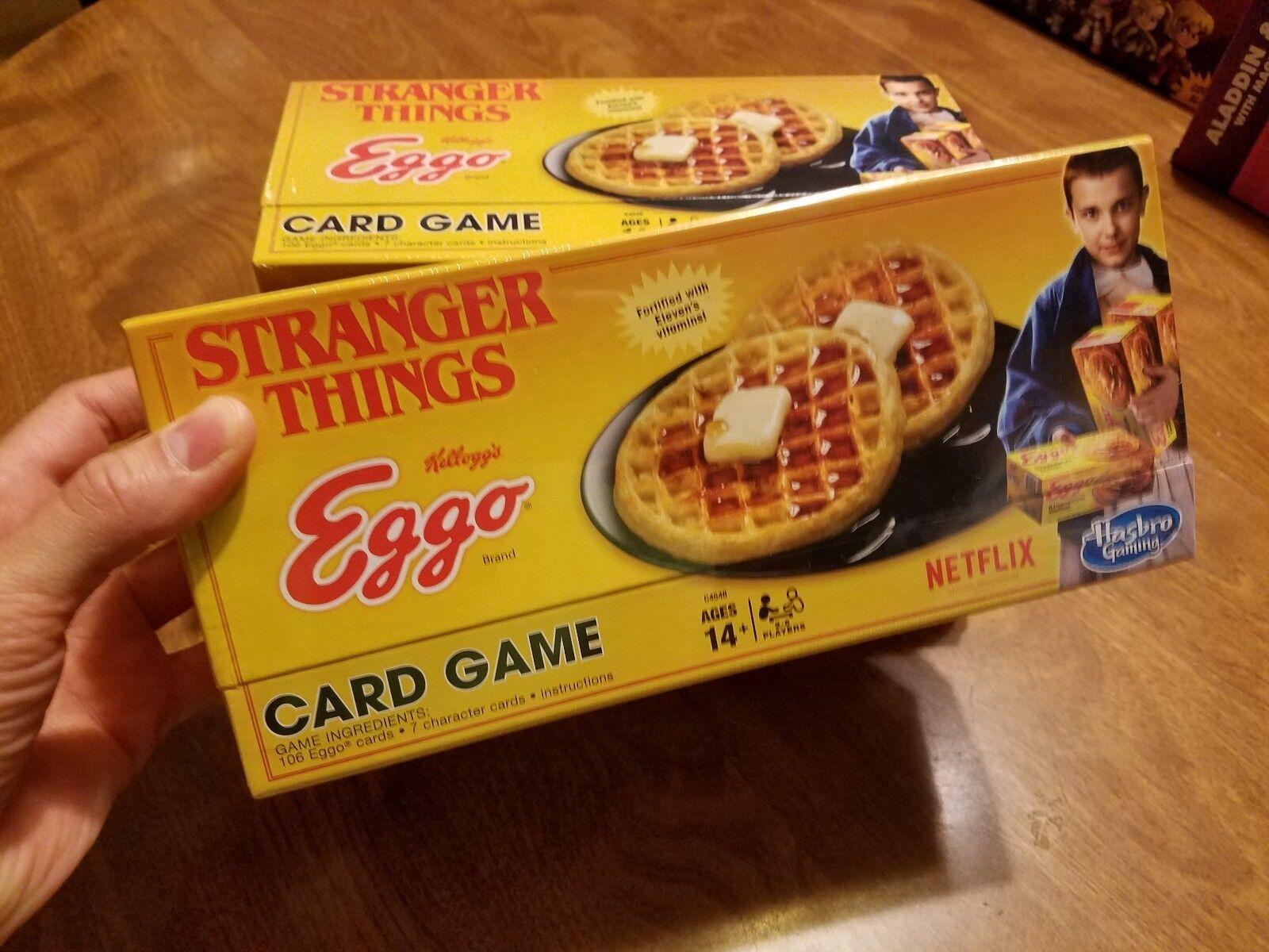 Netflix Stranger Things Eggo Waffles Card Game Hasbro Gaming Collectible