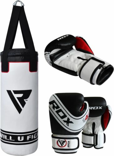 RDX Kids Boxing Punching Bag With Chain /& Gloves Mitts MMA Heavy Training Gym US