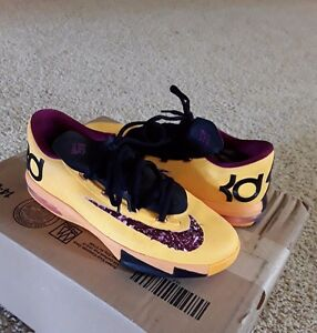 newest collection 37b94 4f5f5 Image is loading Nike-KD-VI-6-Peanut-Butter-amp-Jelly-
