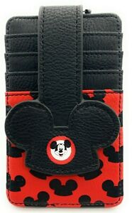Disney-Parks-Mickey-Mouse-Club-Ears-Credit-Card-Holder-ID-Wallet-Slim-Black-NEW