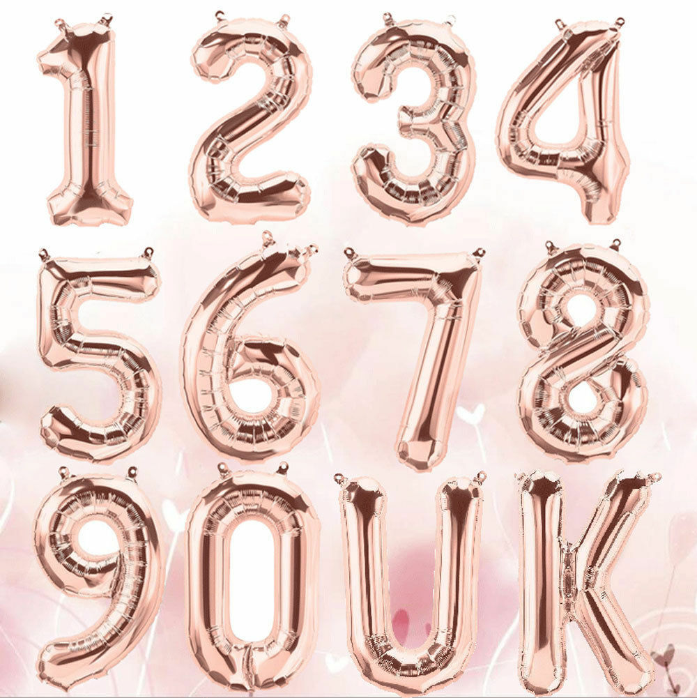32/'/'//40/'/' 0-9 Number Foil Balloons Helium Ballons Birthday Wedding Party Decor