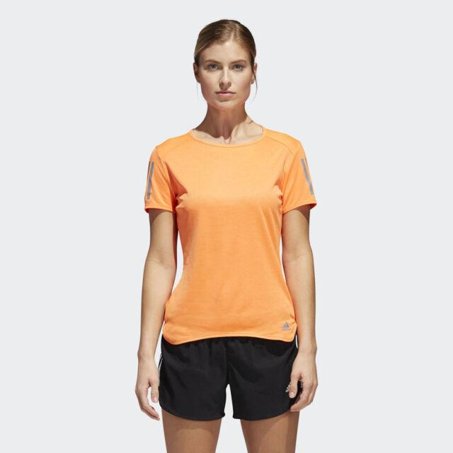 a119a2fb90 Adidas Femmes T-Shirt Running Response Tee Fitness Entraînement Gym Neuf  Cf2152