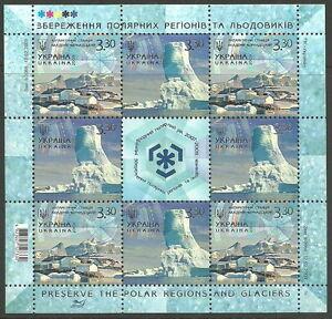 Ukraine-Protection-de-POLARGEBIETE-NEUF-2009-mi-1027-1028-feuilles-MINIATURE