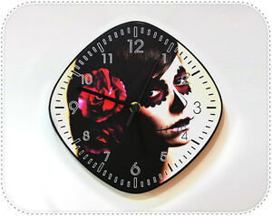 Catrina-Calavera-Sugar-Skull-Mexican-Art-Decor-Gift-Wall-Clock