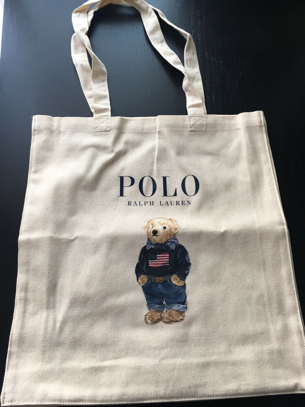 Polo Ralph Lauren Shopping Canvas Bag New