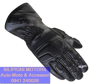 SPIDI-STS-S-A163-Nero-026-Guanto-in-Pelle-Moto-Sport-Touring-Racing