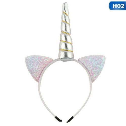 Magical Unicorn Horn Head Kids Headband Fancy Dress Cosplay Party Supplies Decor