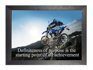Detalles De 2 Motocross Bicicleta Obra Frase Motivación Estampado Inspiradora Sports
