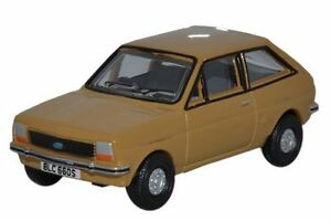 Oxford-76FF002-Ford-Fiesta-Mk1-Nevada-Beige-1-76th-Escala-00-Gauge-Nuevo-en