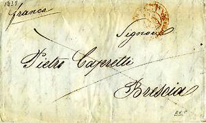 035 PREFILATELICA Trieste-Brescia 1839 FRANCA - Italia - 035 PREFILATELICA Trieste-Brescia 1839 FRANCA - Italia