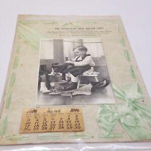 Vintage Humboldt County Eureka CA  Goodyear Shoe Repair Shop Calendar 1918