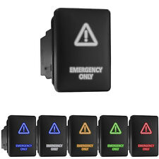Emergency Only Symbol Led Push Button Rocker Switch Replacement Fit Toyota