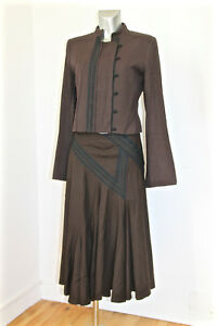BARBARA-BUI-set-long-skirt-jacket-winter-wool-size-40-i44-MINT