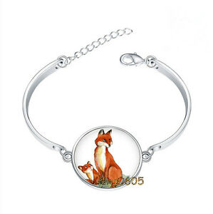 Fox-Bracelet-Bracelet-Photo-Glass-Cabochon-Tibet-silver-Bracelets