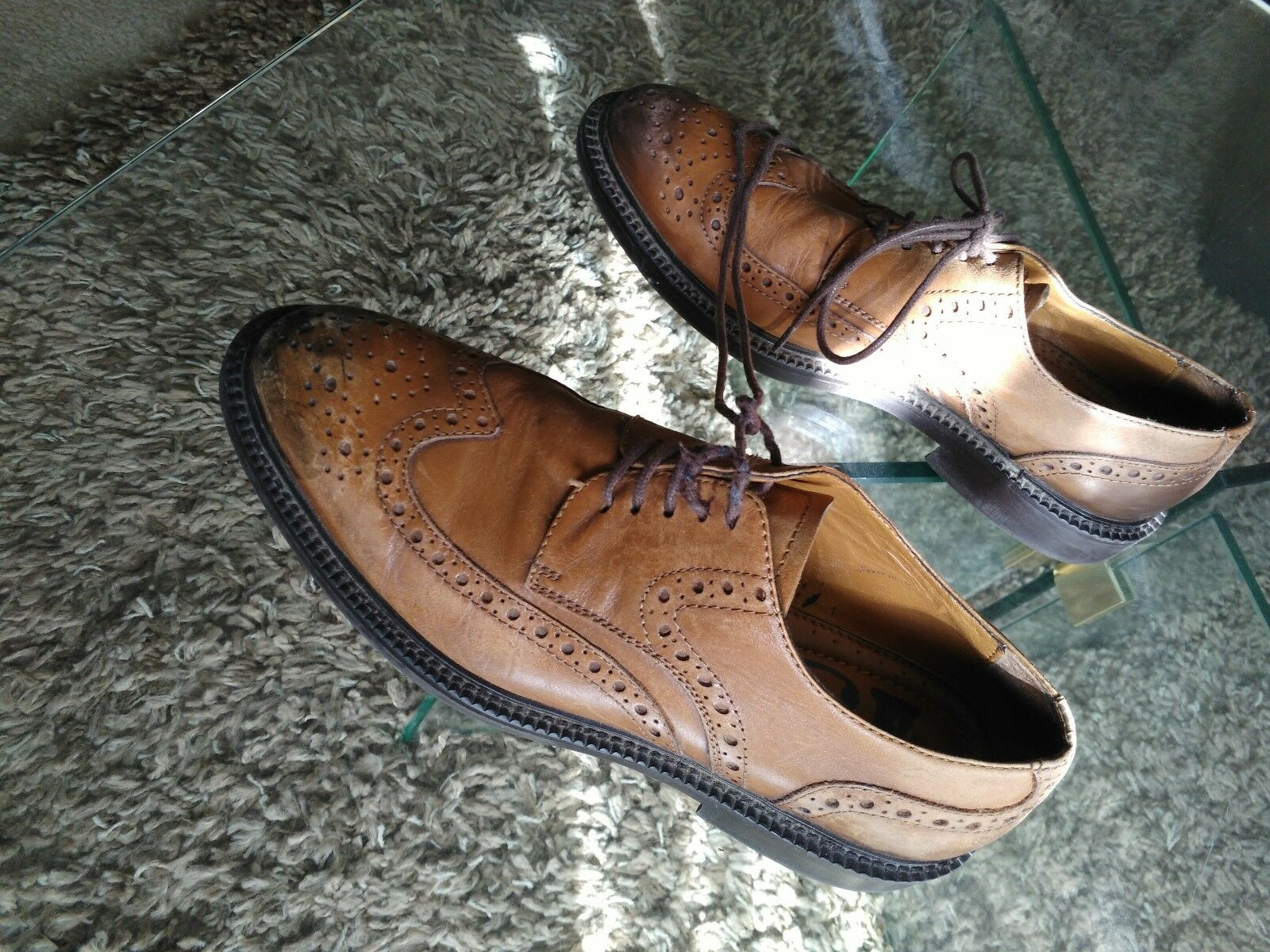 Men's brogue shoes, Leather derby, Snazzy brogue Men's look, Rare finding! a3b20c