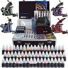 Professional Tattoo Set with 4 Machine Guns, 54 Inks, Pedal, Needles,Grips,Tips