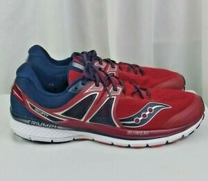 Scrutinize Semicircle Gather  Saucony Everun Isofit Triumph comfort support frame red mens shoes SZ 15 |  eBay