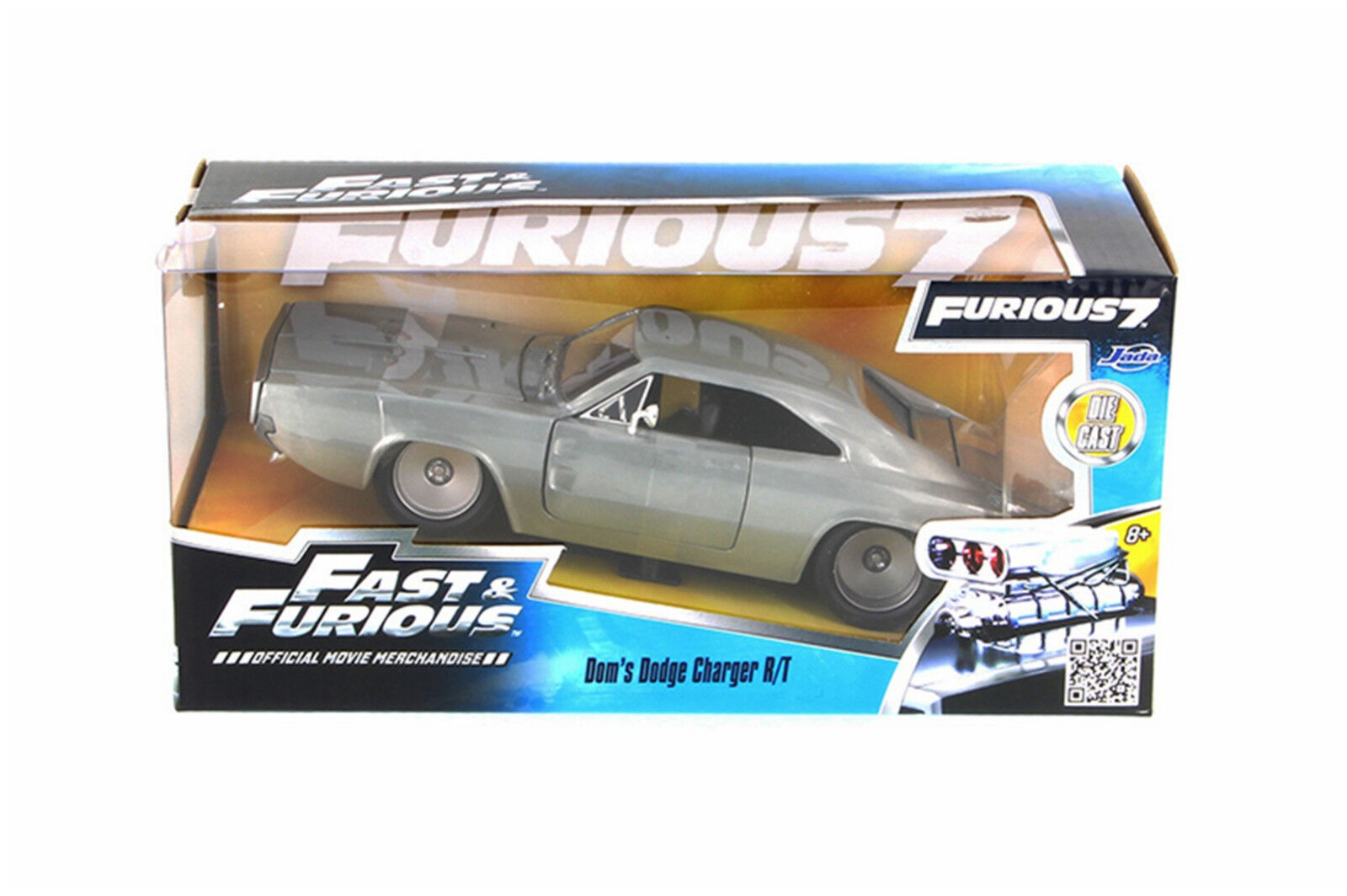 Doms 1968 Dodge Charger RT Bare Metal  FAST AND FURIOUS 1 24 scale
