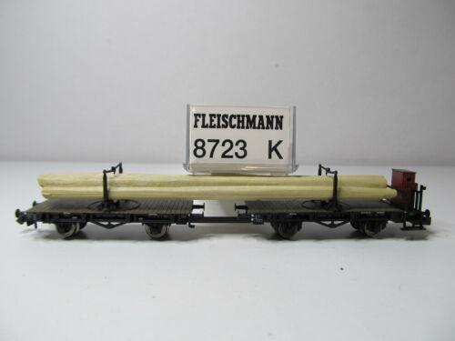 178N Drehschemelwagen mit Holz Ladegut DR Fleischmann N 8723 K Top in OVP