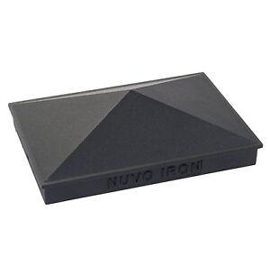 NUVO-IRON-3-5-034-x-5-5-034-and-4-034-x-6-034-PYRAMID-ORNAMENTAL-ALUMINIUM-POST-CAP-PCP09