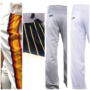 f83b96ca848 Men s Baseball Pants 3N2 White Gray Royal Navy Pipe Small Medium ...