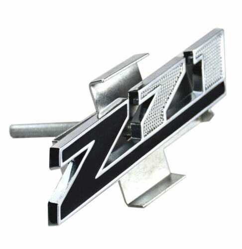 1x Grille Z71 Emblem Badge for Gm Chevrolet Silverado Chrome Black Small