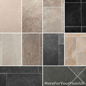 Image Is Loading Tile Effect Vinyl Flooring Lino High Quality 4