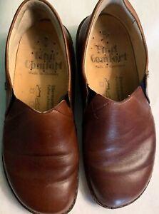 Finn Comfort Brown Newport Slip On Women S Size 6 5 Wide Width Leather Shoes Ebay