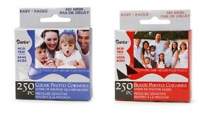 PHOTO-CORNERS-Self-Adhesive-250-box-CHOOSE-CLEAR-OR-BLACK