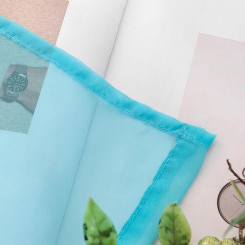 2er Set Gardinen transparent Schal Kräuselband Voile Farbe Größe wählbar #1406-2