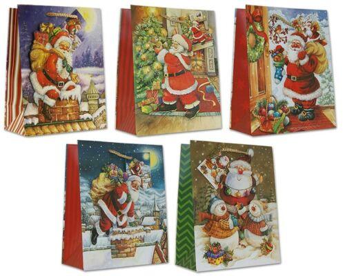 Geschenktüten Weihnachten 23x18x10 Weihnachtstüten 3D Geschenktasche 22-0311-2