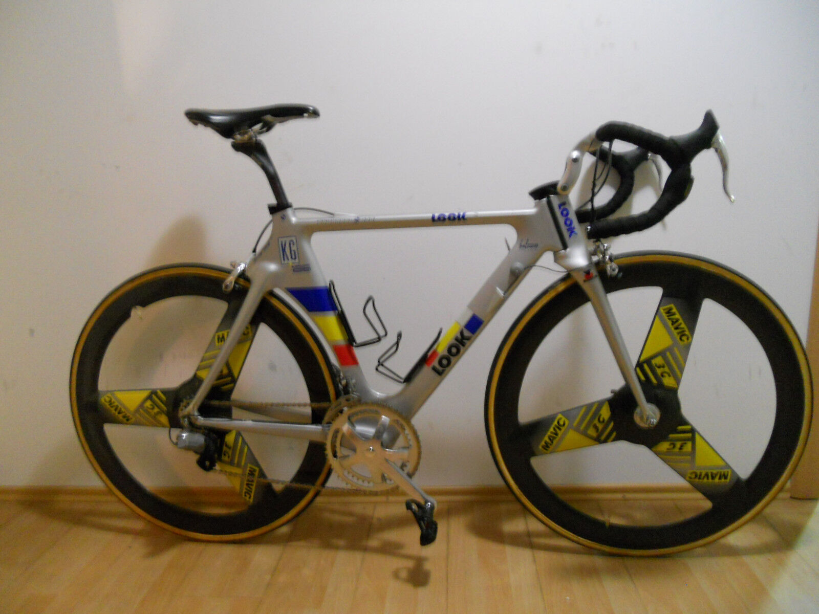 Look KG196 with Mavic ZAP and 3G wheelset for ONCE team before Di2 EPS groupset