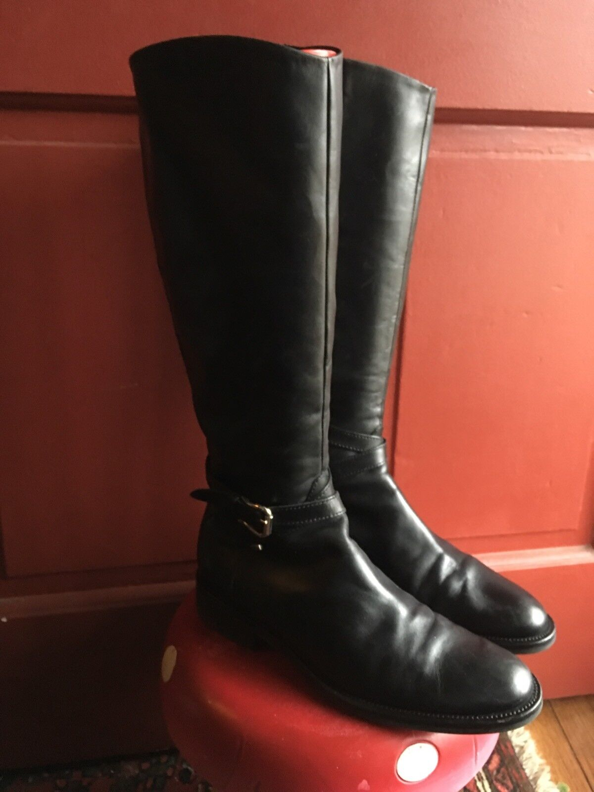 Geox Riding Boots Style 1/2 size 8 1/2 Style Black b319f3