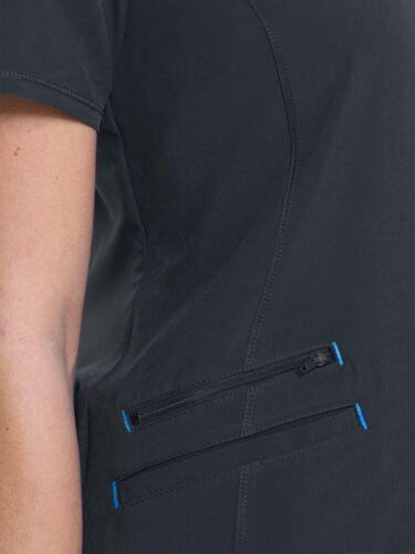 Scrubstar Women/'s Premium Performance Mock Wrap Scrub Top Pewter//Dark Gray Small