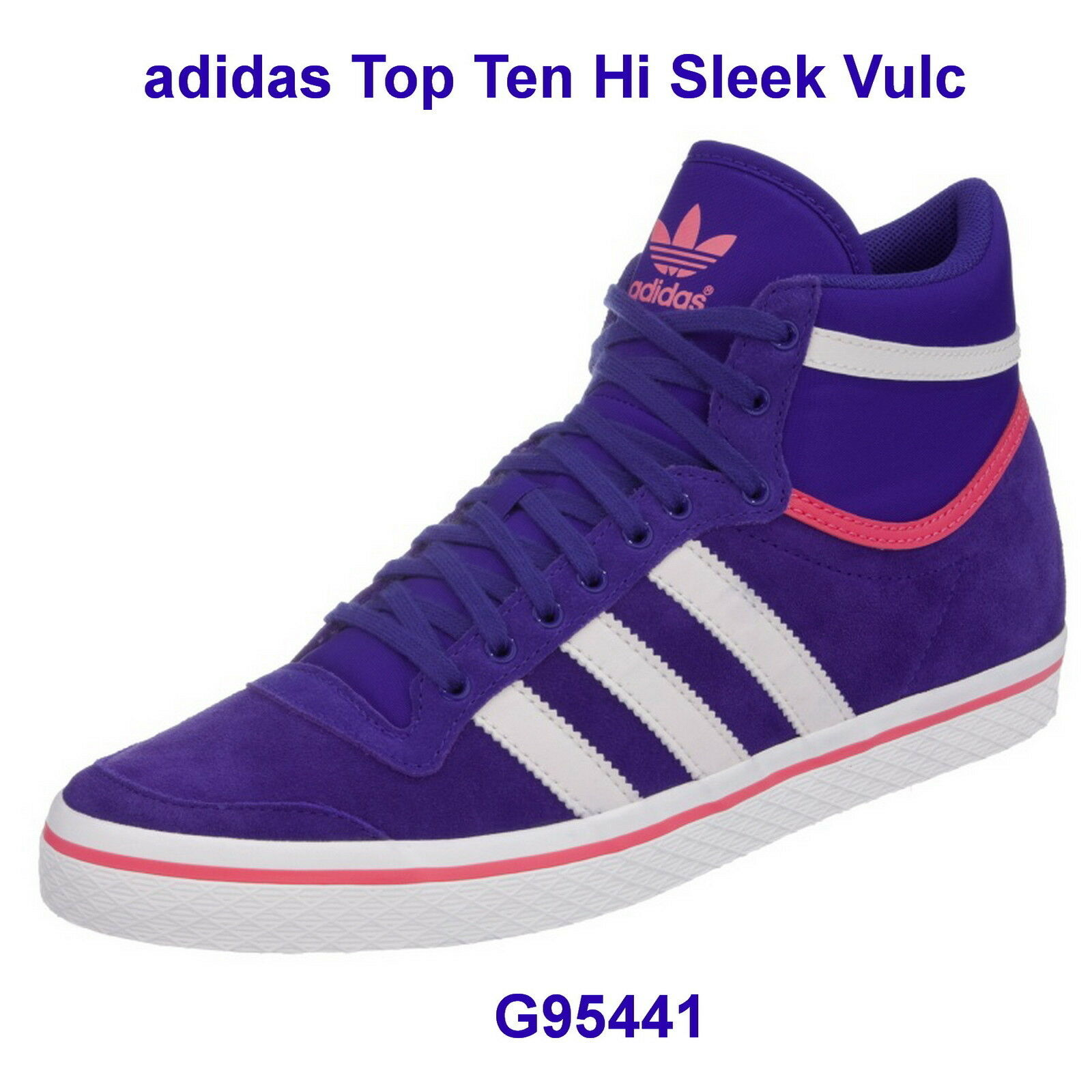 ADIDAS Top Ten Hi Sleek Series Originals  Donna g95441 FB. Purple/Pink/WH