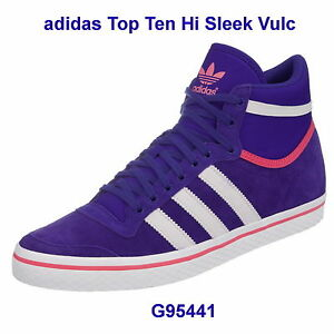 Dettagli su ADIDAS Top Ten Hi Sleek Series Originals Sneaker Donna g95441 FB. PurplePinkWH mostra il titolo originale