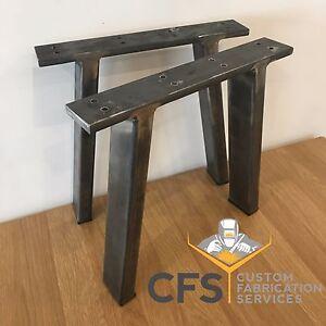 2x Coffee Table Bench Chair Legs Heavy Duty Steel