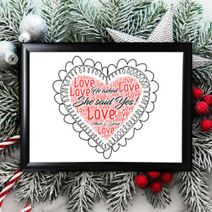Personalised Engagement Gifts Christmas  Him Her Framed Keepsake Mickey /& Minnie