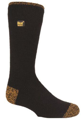 Workforce REINFORCED Thermal Winter Warm Heat Holders Socks size 12-14 uk Black