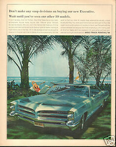 Image Is Loading 1966 Pontiac Star Chief Executive LARGE Print Ad