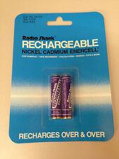 (2) Rechargeable Nickel Cadmium AAA Batteries 1.25V Ni-Cd Radio Shack new in pkg