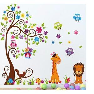 Xxl Wandtattoo Eule Baum Giraffe Lowe Wandsticker Deko Wandaufkleber