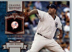 2013 Topps Chasing History #CH-43 CC Sabathia - New York Yankees