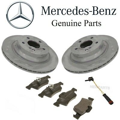 For Mercedes W211 E W219 CLS Rear Brake Pad Set /& 2 Vented Disc Rotors Kit OES