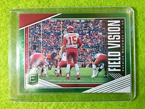 PATRICK-MAHOMES-CARD-JERSEY-15-CHIEFS-SP-2019-Donruss-Elite-FIELD-VISION-Green