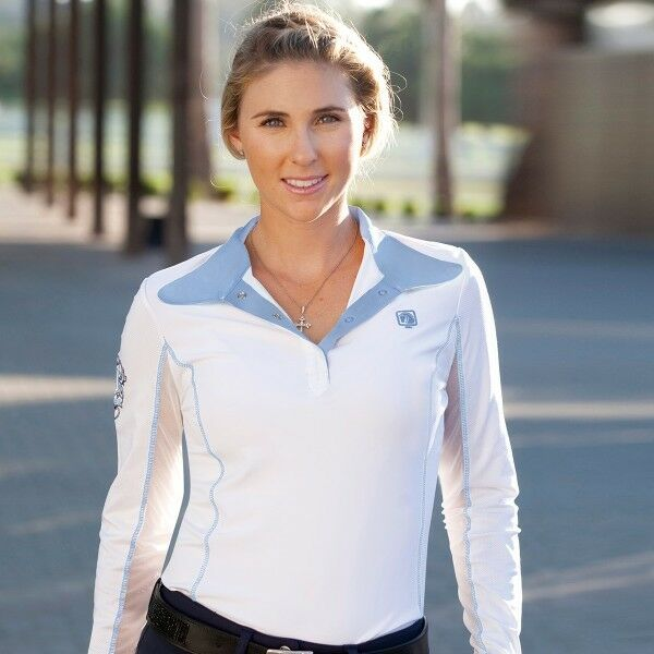 Romfh Competitor Show Shirt - White Periwinkle