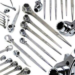 Chrome-Ratchet-Podger-Spanner-Steel-Erecting-Tool-Podger-10mm-30mm-Crv-Steel